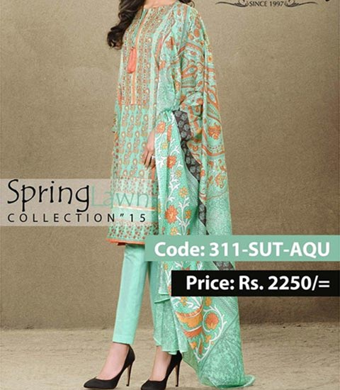 Mausummery Summer Lawn Prints Designs Collection 2015 Price