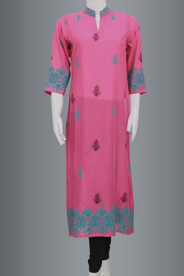 New-Arrivals-Long-Shirt-Kurta-With-Choori-Pajama-for-Girls-Women-in-Pakistan-2015-Kameez-Designs-2014-Winter-Collection