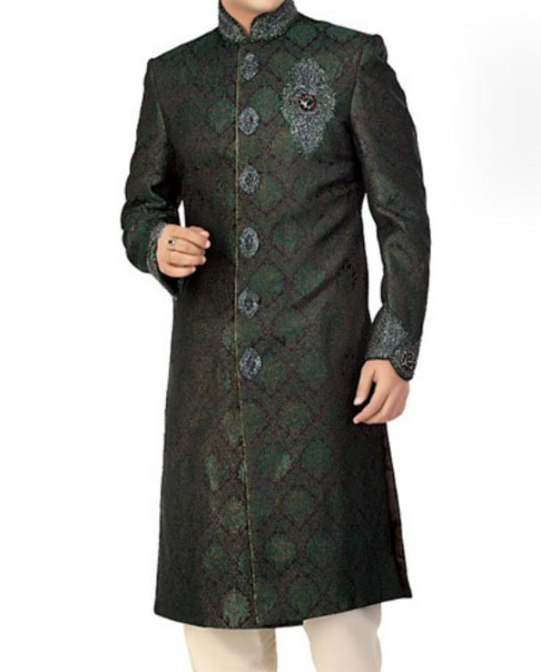 New Stylish and Fancy Sherwani Designs 2015 for Grooms, Men in Pakistan India