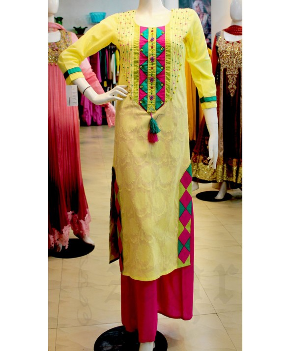 New long shirts with palazzo Designs 2014 2015 Fashion Trends in Pakistan India