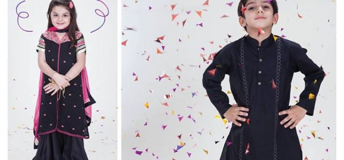 Nishat Linen Kids Eid Dresses Collection 2014 for Teens Girls Boys