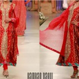 Nomi Ansari Bridal Collection 2015 Pics Plazo Wedding Dresses