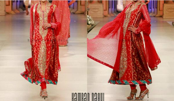 Nomi Ansari Bridal Collection 2015 Pics Wedding Dresses Frock Red