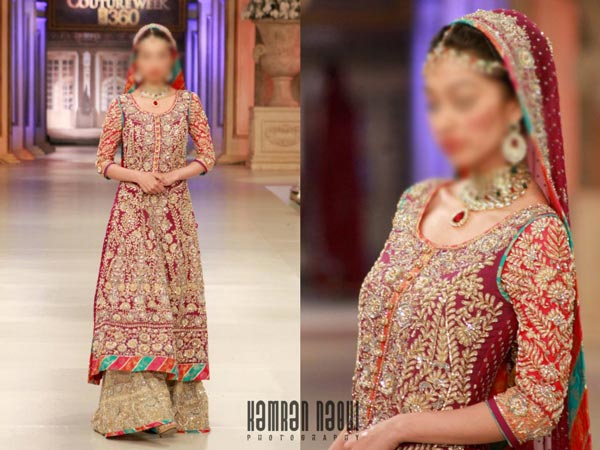 Nomi Ansari Bridal Collection 2015 Pics Wedding Plazo Palazzo Long Shirt  Lehenga Choli