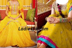 Mehndi Night Dresses for Bridal