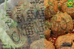Shahi Gola Kabab Urdu English Recipe by Shireen Anwar
