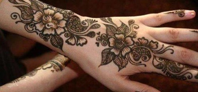 Beautiful Arabic Mehndi Designs for Front & Back Hands 2015