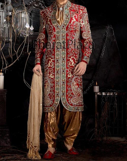 Stylish  and Fancy Sherwani Designs 2015 for Grooms, Men in Pakistan India 2014