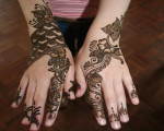 Sunflower Mehndi Designs2 150x120 Henna EID Mehndi Designs Pictures
