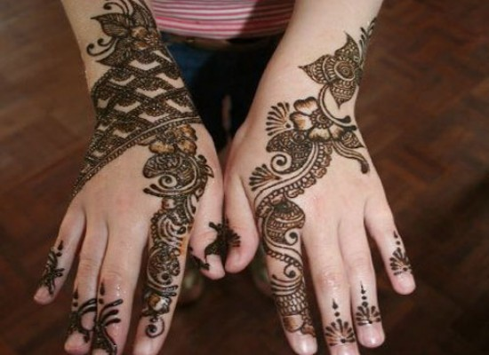 Arabic EID Mehndi Design Hand and Feet