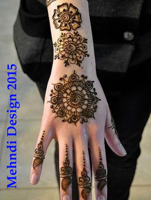 Top Arabic Bridal Mehndi Designs for Hands 2015 2014 Images Facebook Pakistani Indian Bangladeshi Round-flower