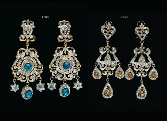 Beautiful Eid Jewellery Earrings 2014 Designs Collection by Stylo