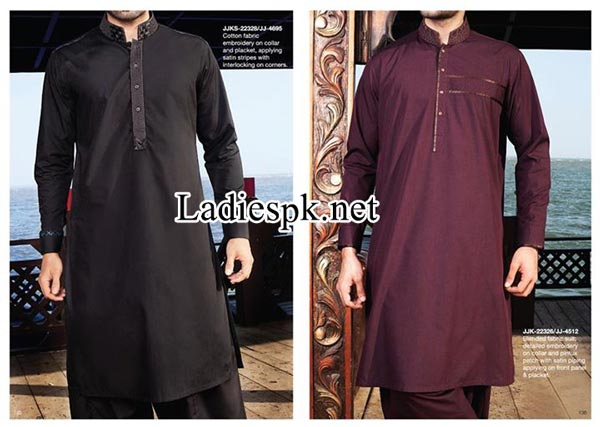 Winter Collection 2014 Junaid Jamshed Men Kurta Design 2015 Boys