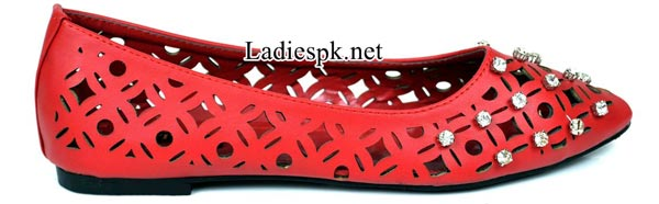 Women's-Pumps-red-Metro-Shoes-New-Arrival-2014-2015-Winter-Collection-with-Price-Facebook-PKR-1695