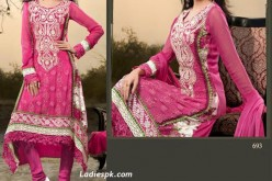 Boutique Dress A Line Pink Kameez with Choori Pajama