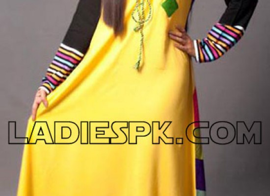 A Line Dresses Kameez Style, Frock Designs in Pakistan 2013