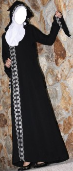 abaya burkha saudi arabia 2013 in pakistan dubai kuwait fashions 2013 150x349 Abaya Design in Dubai Burka Collection