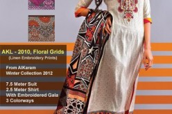 Al Karam Summer Lawn Prices 2013 Long Shirt Choori Pajama