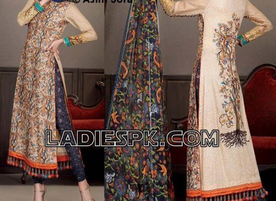 Asim Jofa Lawn 2013 Long Pajama Kameez for Women Girls