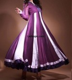 beautiful frock umbrella pakistani 2013 150x166 White Umbrella Frocks 2013 for Wedding