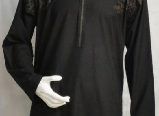 Latest Party Wear Black Kurta Men Boys With Price 2013