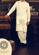 bonanza eid collection 2013 for men neckline embroidered shalwar kameez eid 150x213 Nishat Naqsh Piping Kurta Shalwar Kameez Design 2013