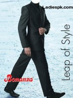 bonanza three piece suit black pant coat 150x200 Latest Bonanza Three Piece Pant Coat Styles for Gents 2013