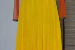New Yellow Frock Design for Mehndi 2013