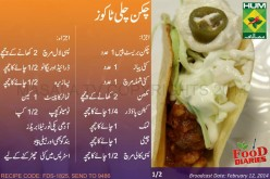 Chicken Chili Tacos Recipe Urdu English Rida Aftab Masala TV