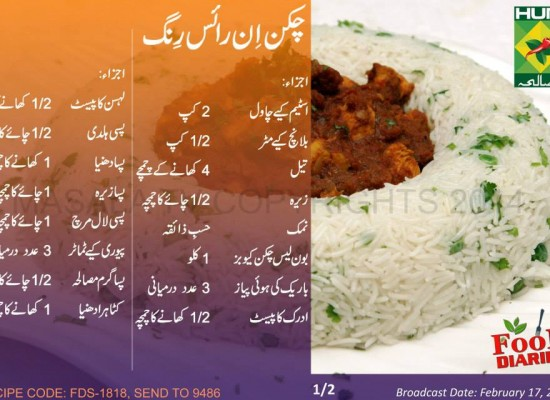 Chicken in Rice Ring Recipe in Urdu English Zarnak Masala TV
