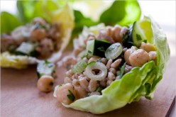 Chickpea and bulgur salad with mint Recipe