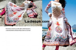 Five Star Lawn 2013, Summer White Frock Choori Pajama