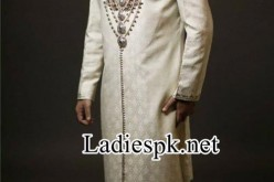 Ahsan Hussain Wedding Sherwani Fashion 2014 in Pakistan India