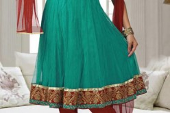 Indian Summer Anarkali Frocks with Churidar For Girls