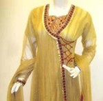 designs of angrakha style ladies suits 20131 150x147  Angrakha Kurta Style 2013 in India