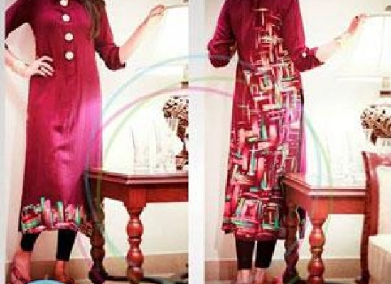Front Button Dresses for Women: Doriyaan Eid Collection 2013