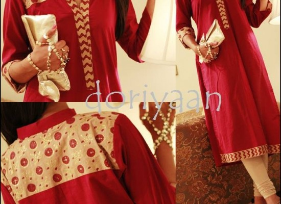 Doriyaan Eid Collection 2013 for Women, Kurta for Girls