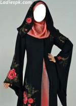 fancy abaya burkha saudi 2013 in pakistan dubai kuwait 150x210 Latest Modern Abaya Designs for Women
