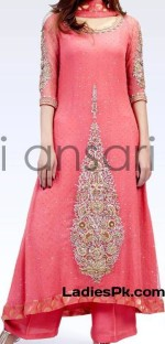 fancy boutique style dress for party wedding 2013 pink a line kameez 150x312 Long Tail Gown Shirts Fashion in Pakistan for Women & Girls