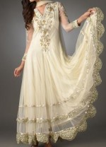 fancy frock designs 2013 party wedding white 150x208 Indian White Boutique Frocks for Wedding & Party