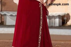 Fancy Red Boutique Style Long Frock Design for Wedding 2013