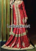 fashion trends of full sleeve bridal wedding dresses 2014 for pakistani indian facebook nomi ansari 150x210 Bridal Wedding Open Shirt Design Fashion 2013 in Pakistan