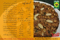 Fruit Cake Recipe in Urdu & English by  Masala TV