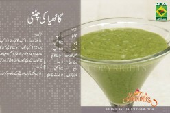 Gathiya Chutney Recipe in Urdu, English by Masala Mornings