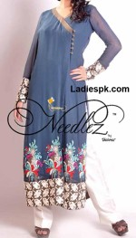girls angrakha style shirt 2013 in summer needlez 150x263 Angrakha Style Lawn Shirt Design, Kurta, Kameez Fashion 2013