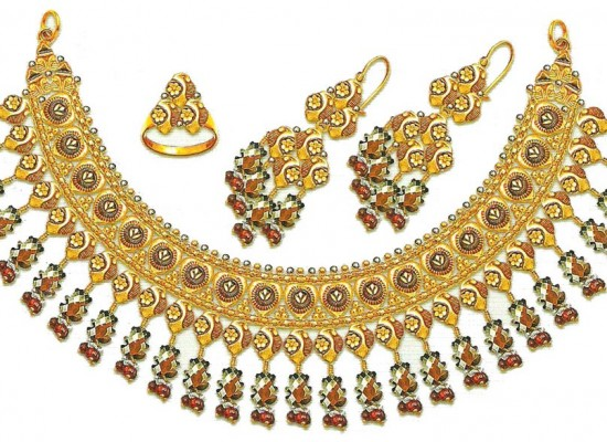 Gold Jewellery Sets Designs 2013 for Bridal