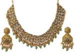 gold jewellery sets designs 2013 for bridal india 150x107 Gold Jewellery Designs 2013 Bridal Necklace with Earrings Set
