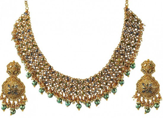 Gold Jewellery Sets Designs 2013 for Bridal in India