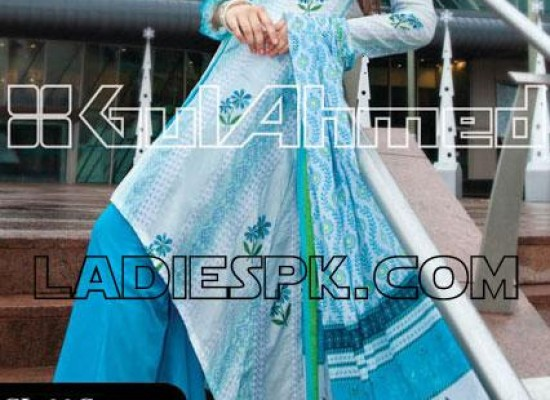 Gul Ahmed Lawn Tail Gown Fashion in Pakistan