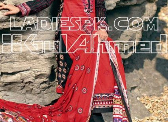 New Gul Ahmed Lawn Shalwar Kameez Style for Girls 2013